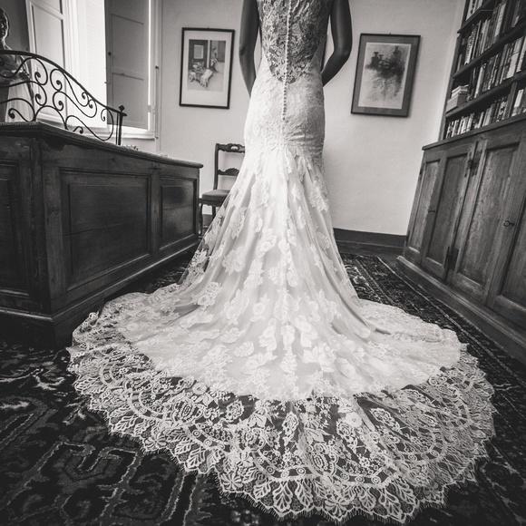 Allure Bridals Dresses Elegant Lace Low Back Wedding Dress Poshmark